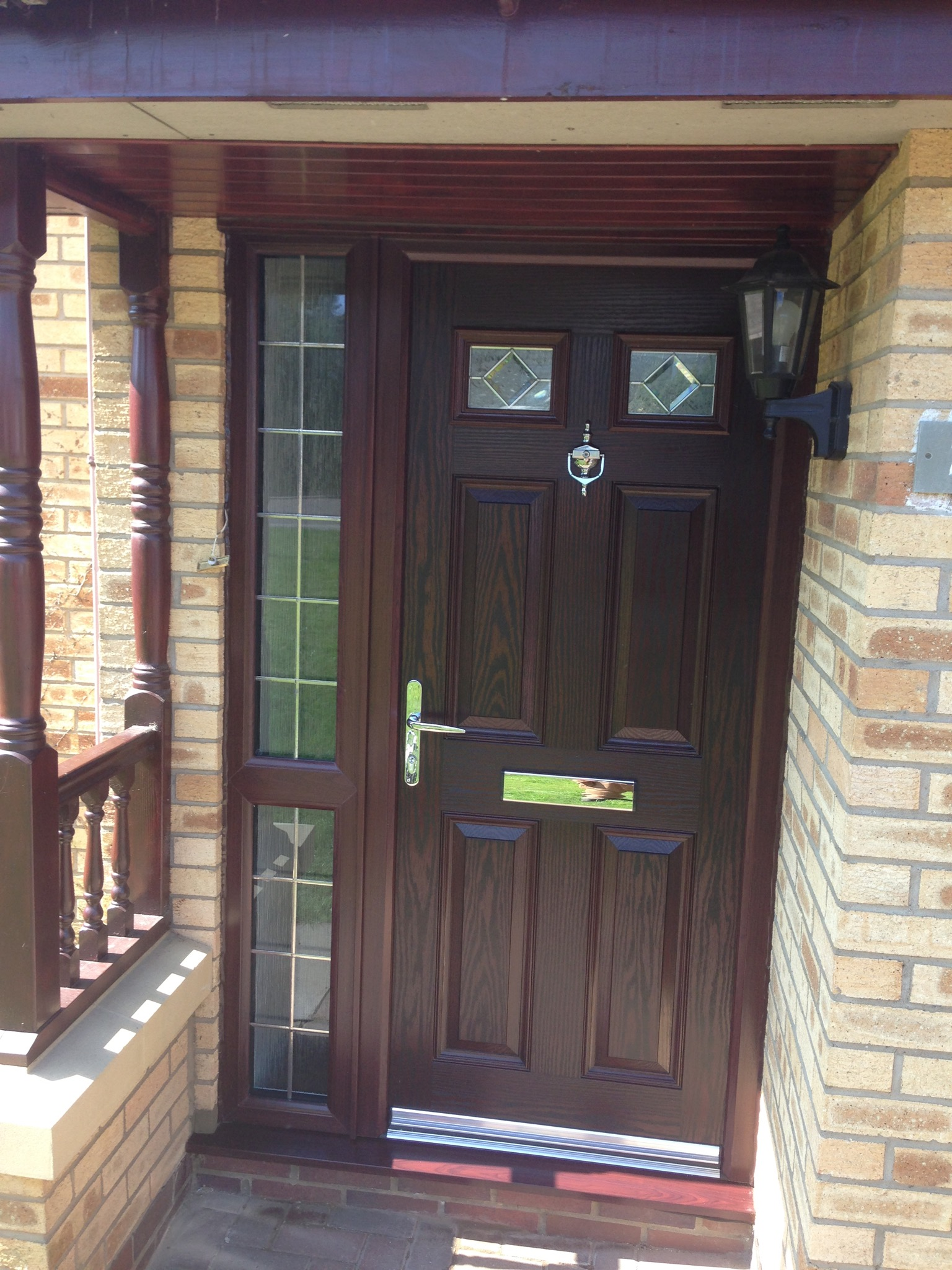 Rosewood Composite Door With Rosewood Frame Neil Amos
