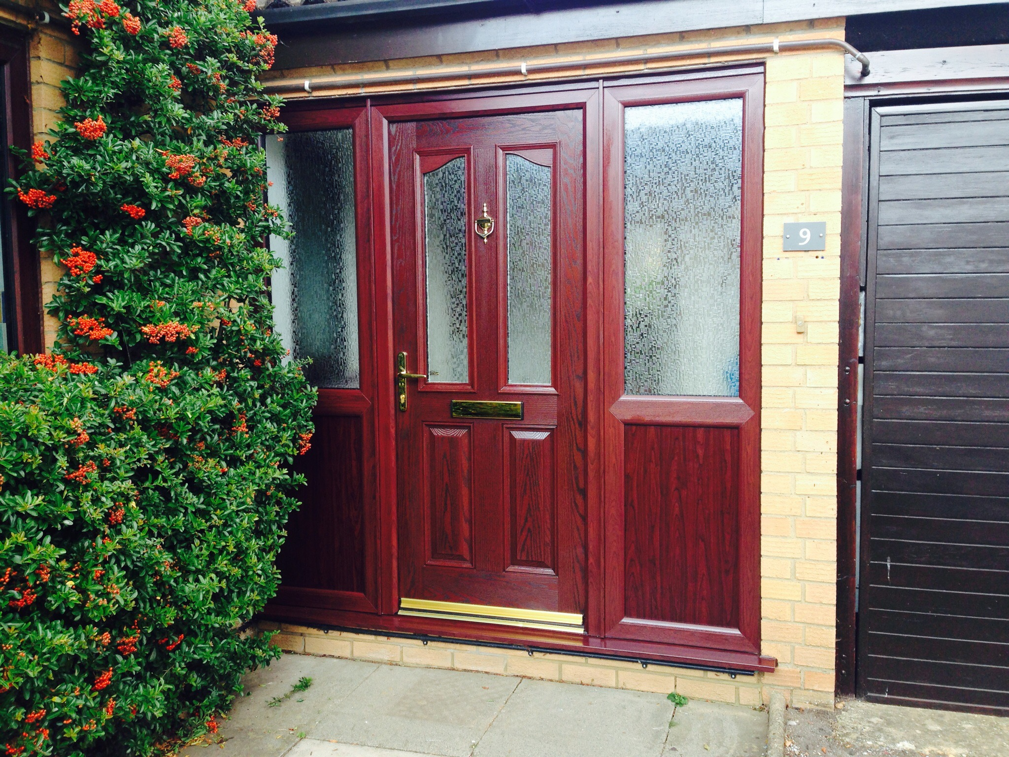 Rosewood Composite Door With Rosewood Frame Neil Amos Windows