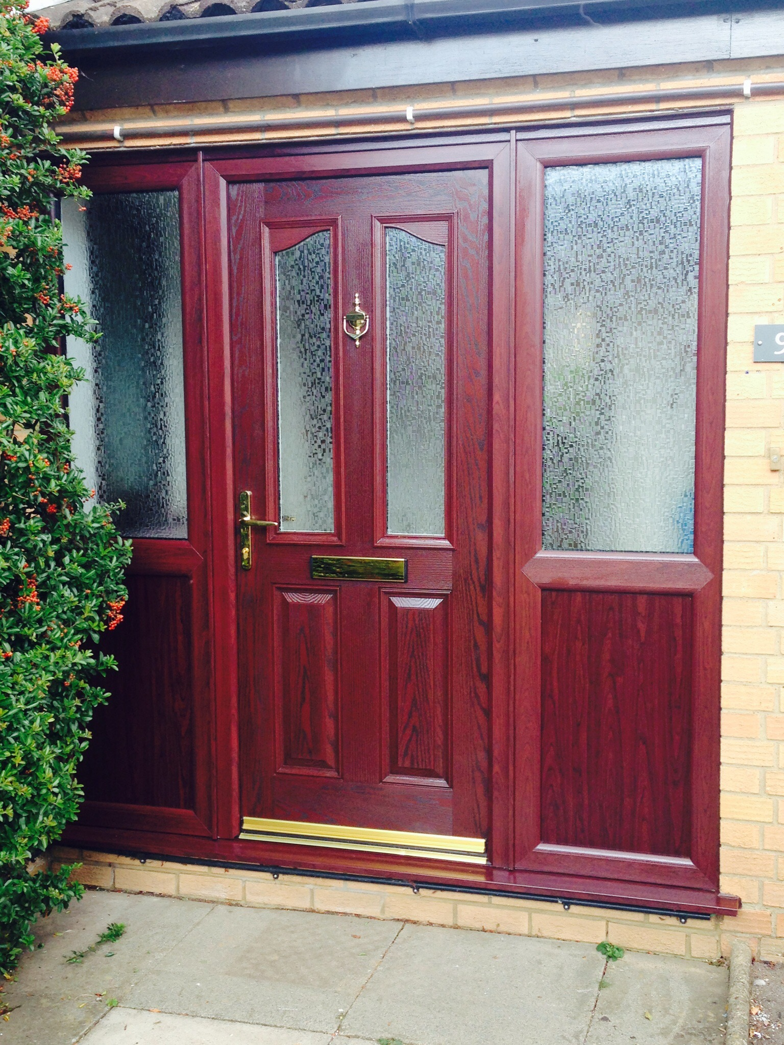 Composite Door Frames : Rosewood composite door with frame neil amos