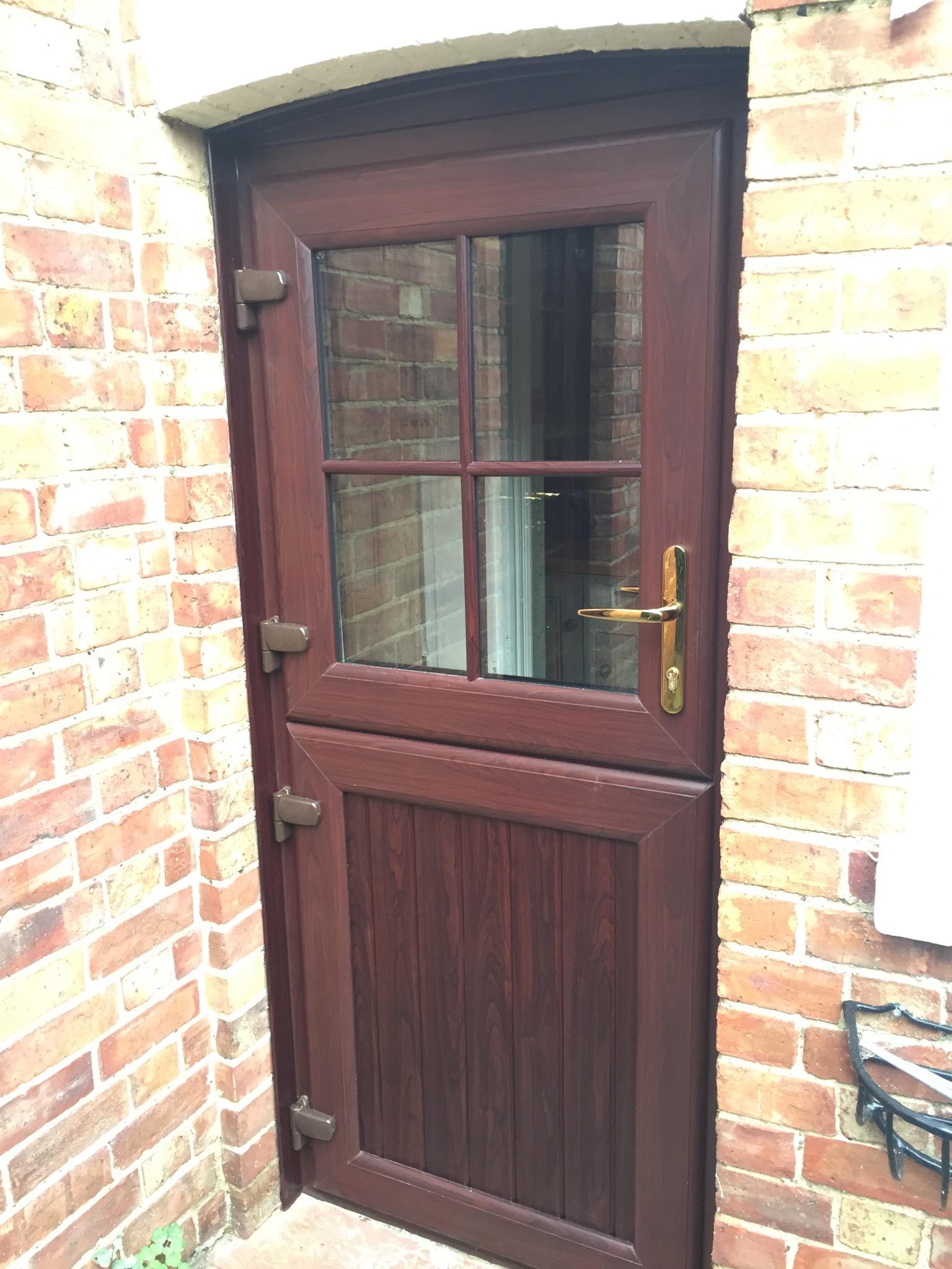 Rosewood stable door & Stable door in rosewood | Neil Amos Windows