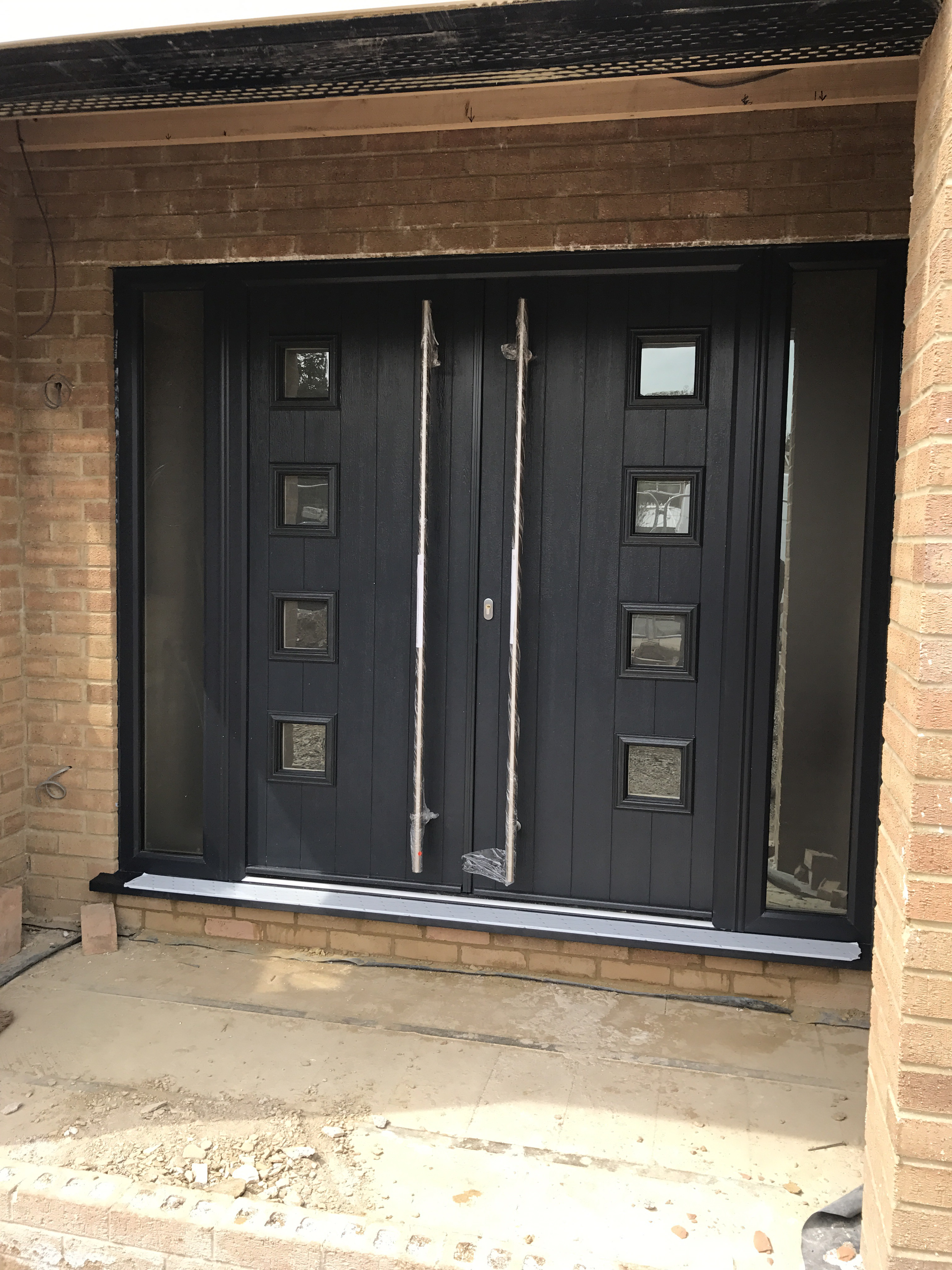 Anthracite Grey Double Composite Doors with 1800mm handles & Double Composite Doors | Neil Amos Windows Pezcame.Com